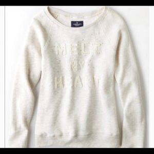 "American eagle ""Melt my heart"" sweatshirt"